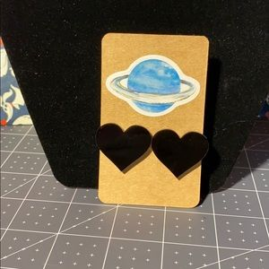 5/$25 Black Heart Earrings